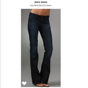 "Joe's Jeans dark wash Icon Muse 9""rise bootcut"